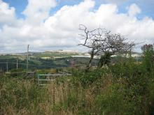 View of fields in St Austell